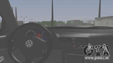 Volkswagen Bora pour GTA San Andreas sur la vue arrière gauche
