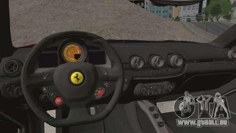 Ferrari F12 Berlinetta 2013 pour GTA San Andreas vue intérieure
