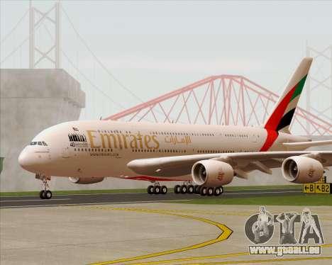 Airbus A380-800 Emirates 40 Anniversary Sticker pour GTA San Andreas vue intérieure