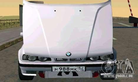 BMW 525 Turbo pour GTA San Andreas sur la vue arrière gauche