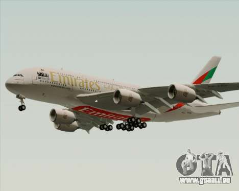 Airbus A380-800 Emirates 40 Anniversary Sticker pour GTA San Andreas vue de droite