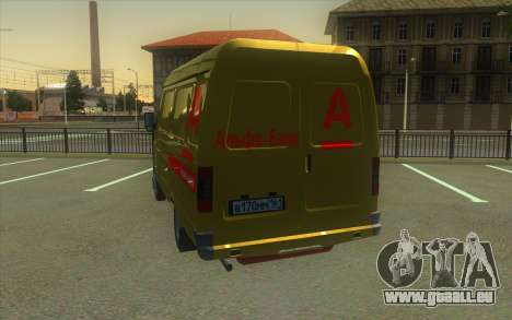 GAZelle 2705 Sammlung Von Alfa Bank für GTA San Andreas zurück linke Ansicht
