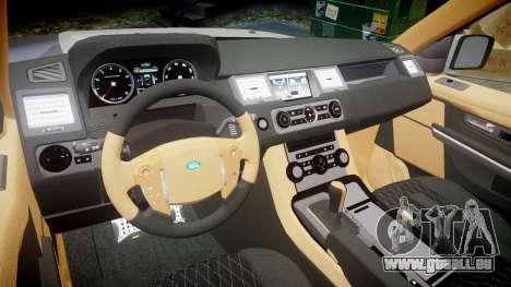 Range Rover Sport Kahn Tuning 2010 pour GTA 4 est une vue de l'intérieur