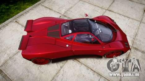 Pagani Zonda C12 S 7.3 2002 PJ2 für GTA 4 rechte Ansicht