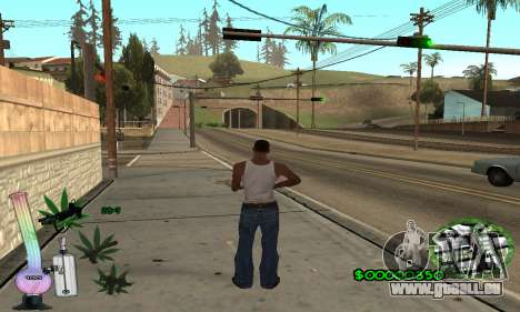 C-HUD Canabis pour GTA San Andreas deuxième écran