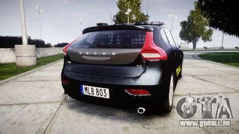 Volvo V40 Swedish TULL [ELS] pour GTA 4 Vue arrière de la gauche