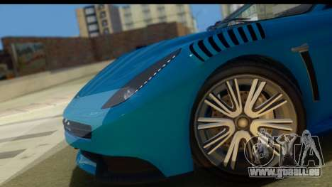 GTA 5 Dewbauchee Massacro pour GTA San Andreas sur la vue arrière gauche