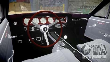 Pontiac GTO 1965 GeeTO Tiger pour GTA 4 est une vue de l'intérieur