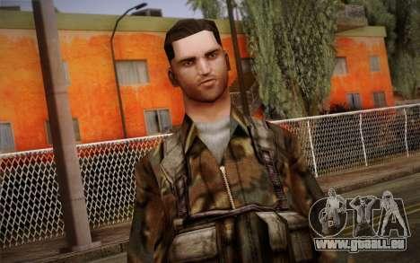 Soldier Skin 1 pour GTA San Andreas troisième écran