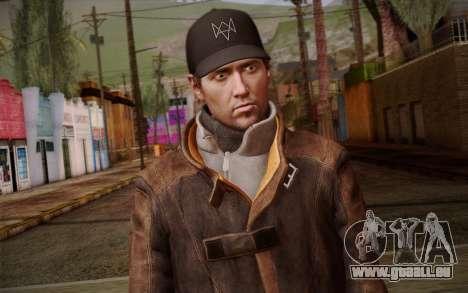 Aiden Pearce from Watch Dogs v10 pour GTA San Andreas troisième écran