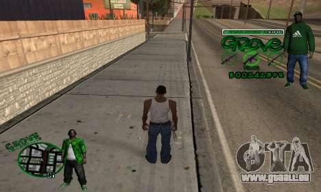 C-HUD Groove pour GTA San Andreas deuxième écran