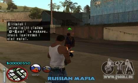 C-HUD Russian Mafia pour GTA San Andreas troisième écran