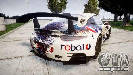 RUF RGT-8 GT3 [RIV] RobOil pour GTA 4 Vue arrière de la gauche