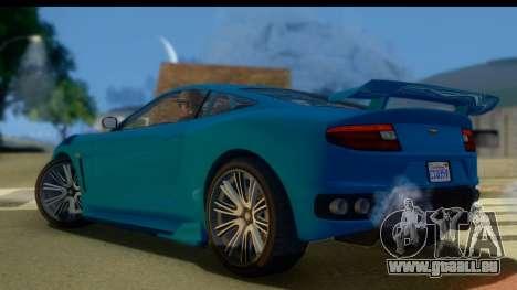 GTA 5 Dewbauchee Massacro für GTA San Andreas linke Ansicht
