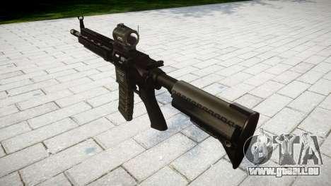 Machine HK416 AR cible pour GTA 4 secondes d'écran