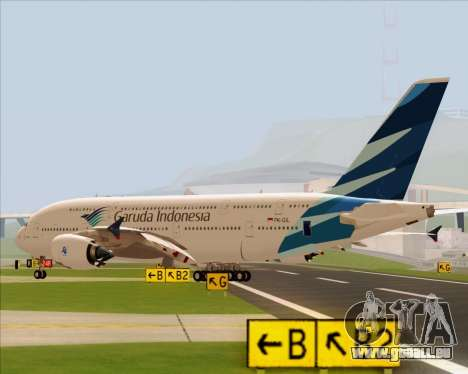 Airbus A380-800 Garuda Indonesia pour GTA San Andreas laissé vue