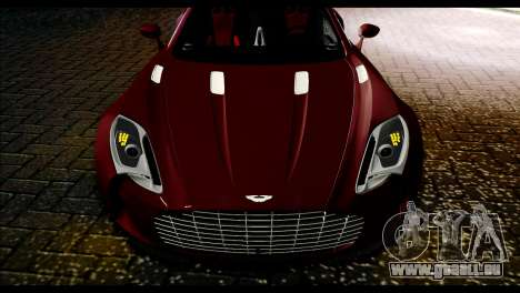 Aston Martin One-77 Black and Red für GTA San Andreas zurück linke Ansicht