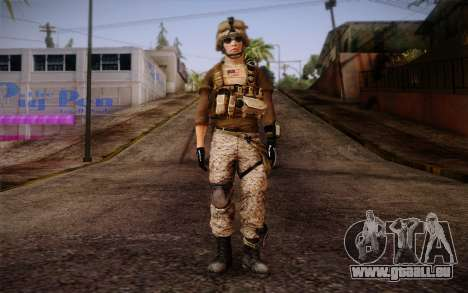 Brady from Battlefield 3 für GTA San Andreas