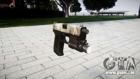 Pistole HK USP 45 woodland für GTA 4
