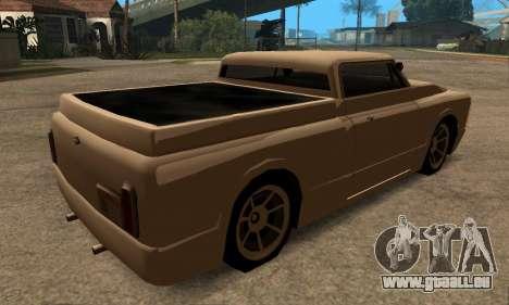 Beta Slamvan für GTA San Andreas zurück linke Ansicht