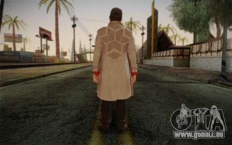 Aiden Pearce from Watch Dogs v1 pour GTA San Andreas deuxième écran