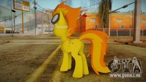 Spitfire from My Little Pony pour GTA San Andreas deuxième écran