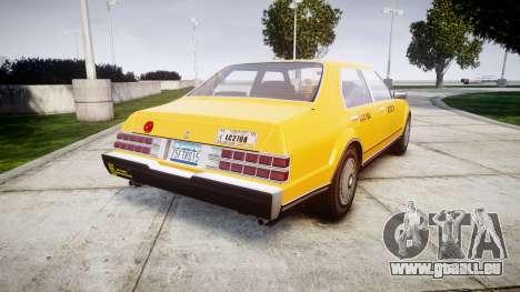 Albany Esperanto Taxi pour GTA 4 Vue arrière de la gauche