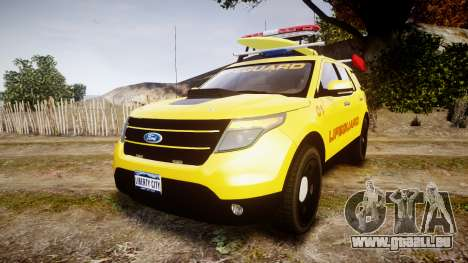 Ford Explorer 2013 Lifeguard Beach [ELS] pour GTA 4