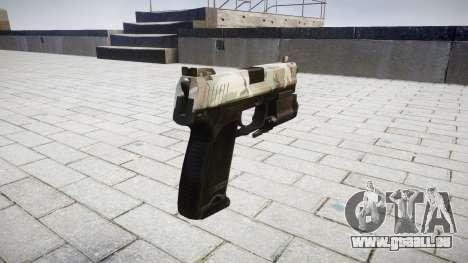 Pistole HK USP 45 woodland für GTA 4 Sekunden Bildschirm