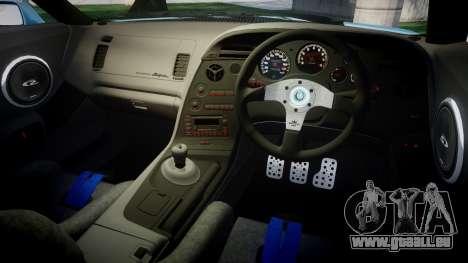 Toyota Supra 1998 pour GTA 4 est une vue de l'intérieur