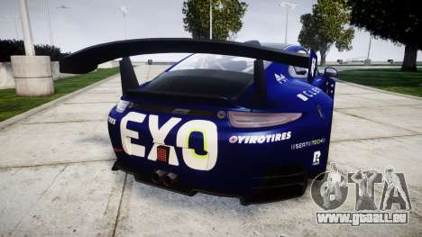 RUF RGT-8 GT3 [RIV] EXO pour GTA 4 Vue arrière de la gauche