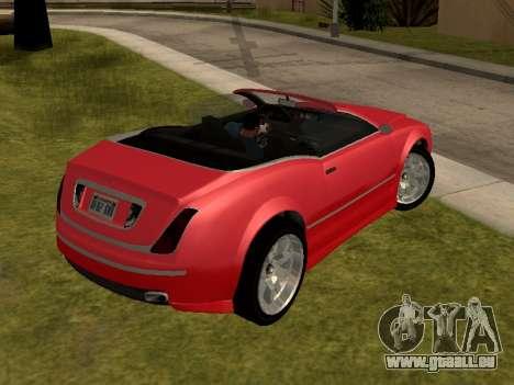 Cognoscenti Cabrio pour GTA San Andreas laissé vue