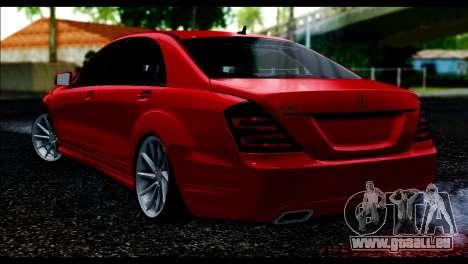 Mercedes-Benz S70 W221 pour GTA San Andreas laissé vue