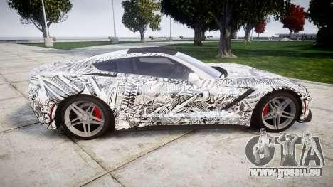 Chevrolet Corvette Stingray C7 2014 Sharpie für GTA 4 linke Ansicht