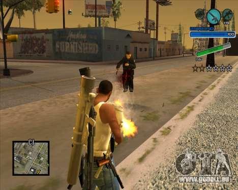 Hervorragende C-HUD für GTA San Andreas zweiten Screenshot