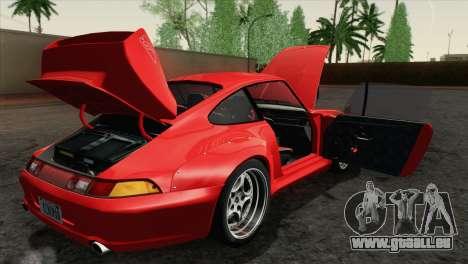 Porsche 911 GT2 (993) 1995 [HQLM] pour GTA San Andreas vue intérieure