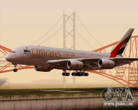 Airbus A380-800 Emirates 40 Anniversary Sticker pour GTA San Andreas laissé vue