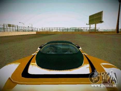 Le guépard из GTA 5 pour GTA San Andreas vue arrière