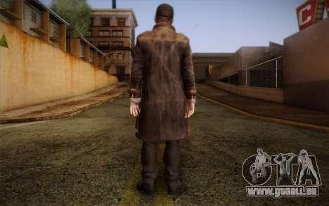Aiden Pearce from Watch Dogs v10 pour GTA San Andreas deuxième écran