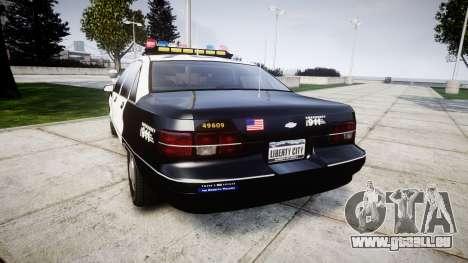 Chevrolet Caprice 1991 LAPD [ELS] Traffic für GTA 4 hinten links Ansicht