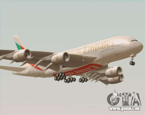 Airbus A380-800 Emirates 40 Anniversary Sticker pour GTA San Andreas vue arrière