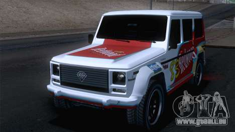 GTA 5 Benefactor Dubsta pour GTA San Andreas vue intérieure
