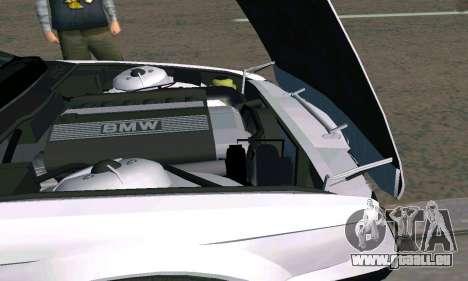 BMW 525 Turbo pour GTA San Andreas vue arrière