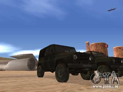UAZ 3151 (CoD 4 MW) für GTA San Andreas zurück linke Ansicht