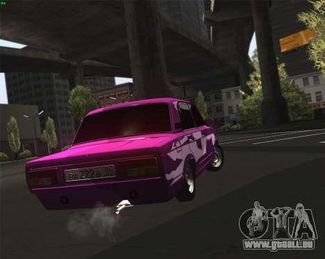VAZ 2105 pour GTA San Andreas vue intérieure