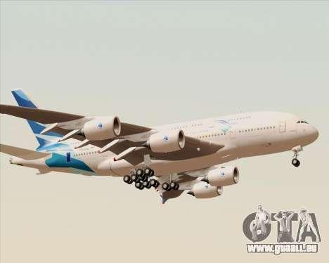 Airbus A380-800 Garuda Indonesia für GTA San Andreas rechten Ansicht