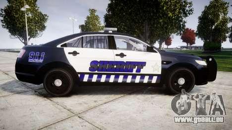 Ford Taurus 2014 Sheriff [ELS] pour GTA 4 est une gauche
