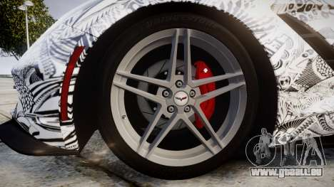 Chevrolet Corvette Stingray C7 2014 Sharpie für GTA 4 Rückansicht