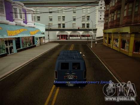 Système vols v4.0 pour GTA San Andreas douzième écran