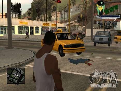 C-HUD Grove Street Gang pour GTA San Andreas deuxième écran